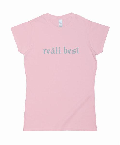"""T-krekls """"reāli besī"""""""