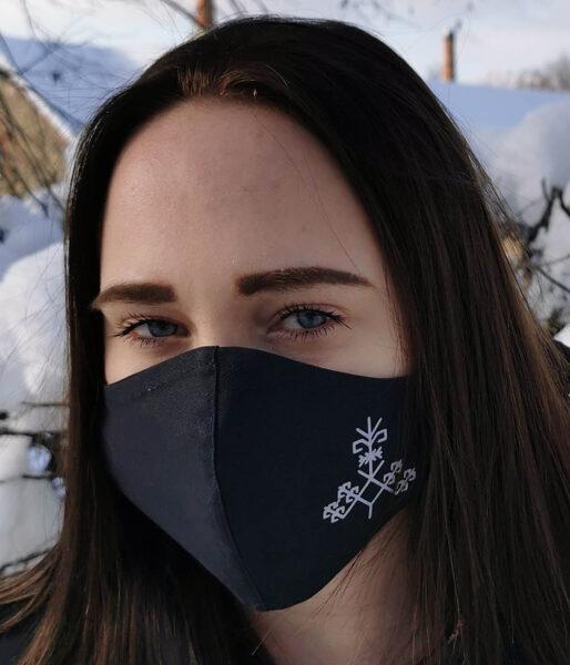 Tumsā atstarojoša sejas aizsargmaska